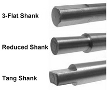 Consolidated Toledo Drill-Common Shank Types