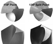 Consolidated Toledo Drill-Point 118° and 135° Split point